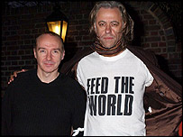 Bob Geldof and Midge Ure