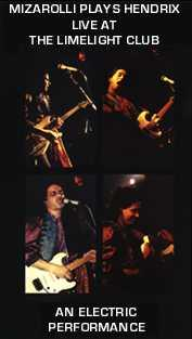 "John Mizarolli Plays Hendrix - after this amazing gig John was acclaimed by British ""GUITARIST"" magazine as a ""major british guitarist"""